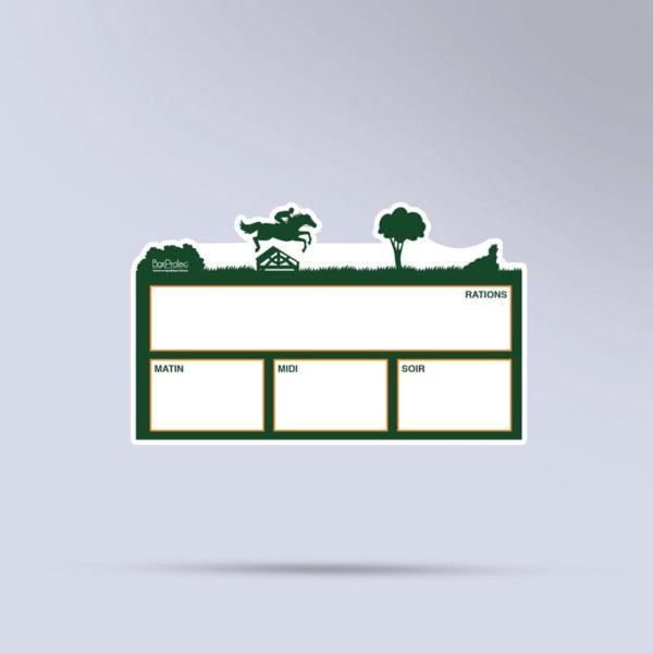 plaque de ration effaçable boxprotec CCE vert
