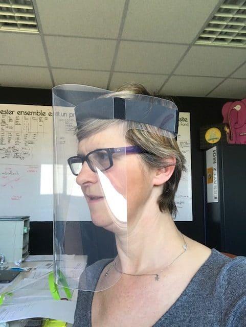 Écran facial léger spécial BTP coronavirus