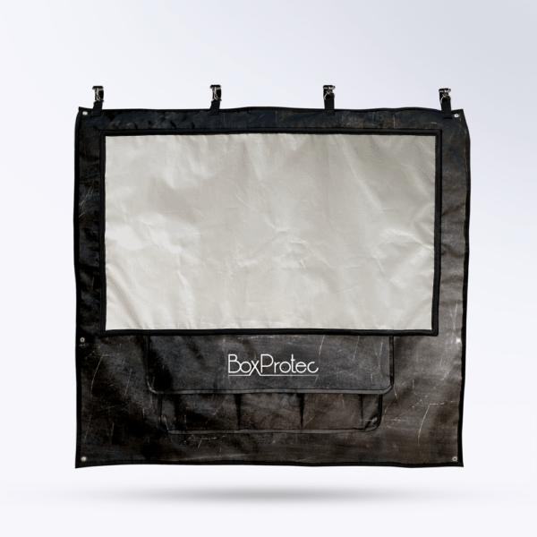 Tenture de box Ardoise avec Toile micro perforée personnalisable
