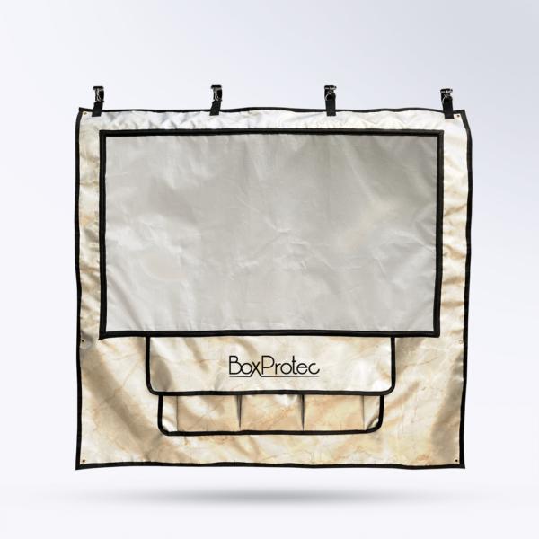 Tenture de box marbre Toile micro perforée personnalisable