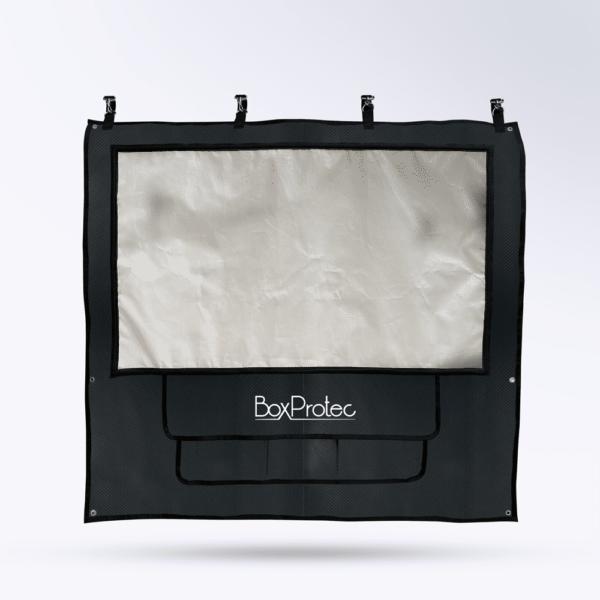 Tenture de box Noir carbone Toile micro perforée personnalisable