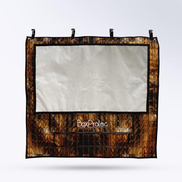Tenture de box Or Toile micro perforée personnalisable
