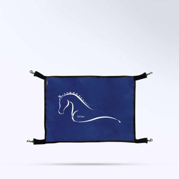 porte de box bleu marine