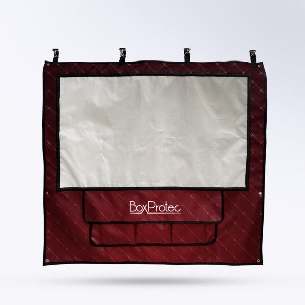 Tenture de box Rouge anglais Toile micro perforée personnalisable