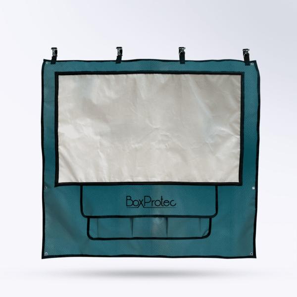 Tenture de box vert carbone Toile micro perforée personnalisable