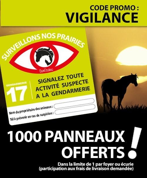Banniere mobile Surveillons nos chevaux - BOXPROTEC