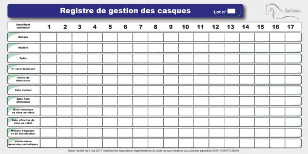 planning casque 17 colonnes 100 x 50 cm